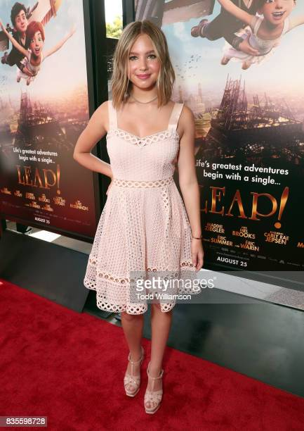 Lilia Buckingham attends the premiere Of The Weinstein Company's 'Leap' at Pacific Theatres at The Grove on August 19 2017 in Los Angeles California