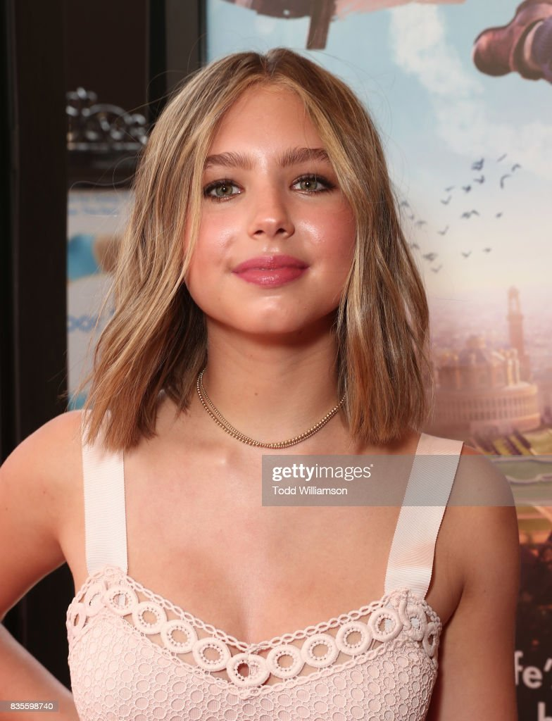 Lilia Buckingham attends the premiere Of The Weinstein Company's 'Leap!' at Pacific Theatres at The Grove on August 19, 2017 in Los Angeles, California.