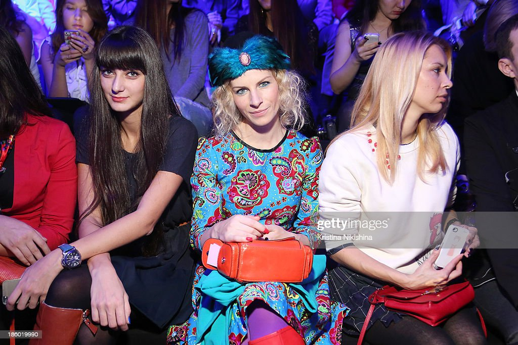 Lilia Fisher attends the Mercedes-Benz Fashion Week Russia S/S 2014 on October 27, 2013 in Moscow, Russia.