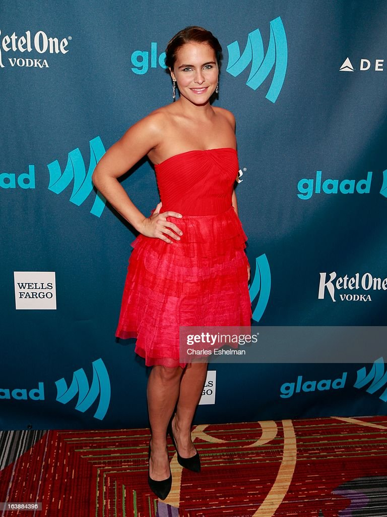 Lilia Luciano attends the 24th annual GLAAD Media awards at The New York Marriott Marquis on March 16, 2013 in New York City.