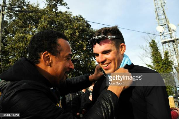 Lilian Calmejane of Direct Energie and his healer Rony Martias during the stage 5 of the Etoile of Besseges from Ales to Ales on February 5th 2017 in...