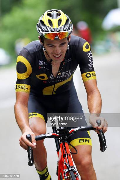 Lilian Calmejane of Fance and Direct Engerie in action on his way to winning stage eight of the 2017 Tour de France from Dole to Station des Rousses...