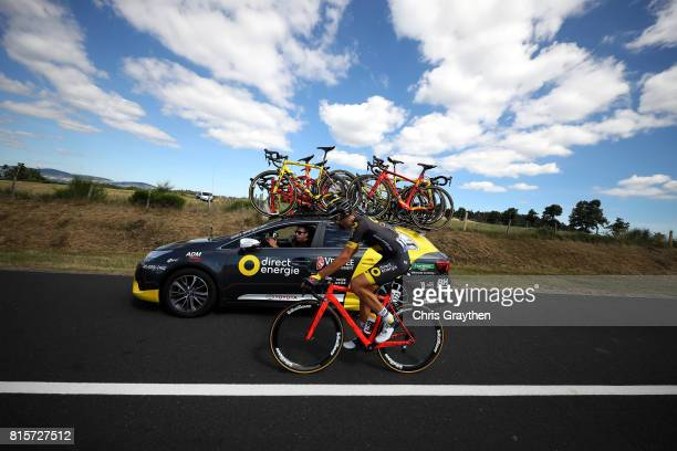 Lilian Calmejane of France riding for Direct Energie rides during stage 15 of the 2017 Le Tour de France a 1895km stage from LaissacSévérac l'Église...