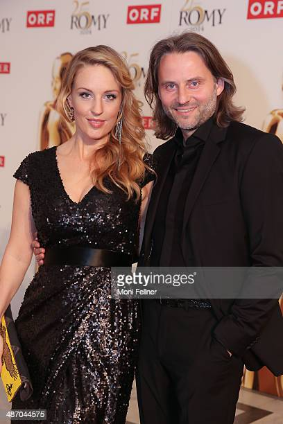 Lilian Klebow and her husband Erich Altenkopf attend the Romy Award 2014 at Hofburg Vienna on April 26 2014 in Vienna Austria