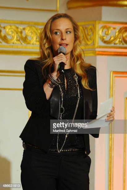 Lilian Klebow speaks to the audience during the Romy 2014 Academy Awards at Hofburg Vienna on April 24 2014 in Vienna Austria