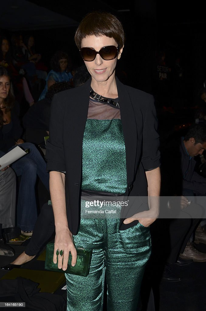 Lilian Pacce attends the Agua de Coco show during Sao Paulo Fashion Week Summer 2013/2014 on March 20, 2013 in Sao Paulo, Brazil.