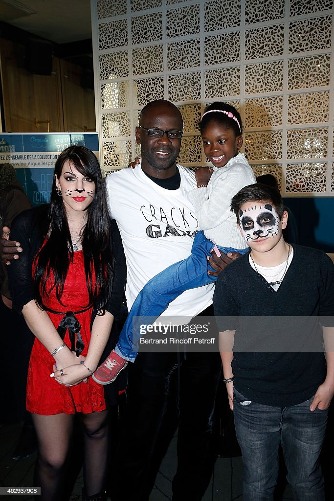 <a gi-track='captionPersonalityLinkClicked' href=/galleries/search?phrase=Lilian+Thuram&family=editorial&specificpeople=211248 ng-click='$event.stopPropagation()'>Lilian Thuram</a> with les P'tits cracks attend 'Le Noel Des P'tits Cracks' (The Little Champions) Christmas charity event, for the benefit of children diagnosed with cancer, on February 7, 2015 in Paris, France.