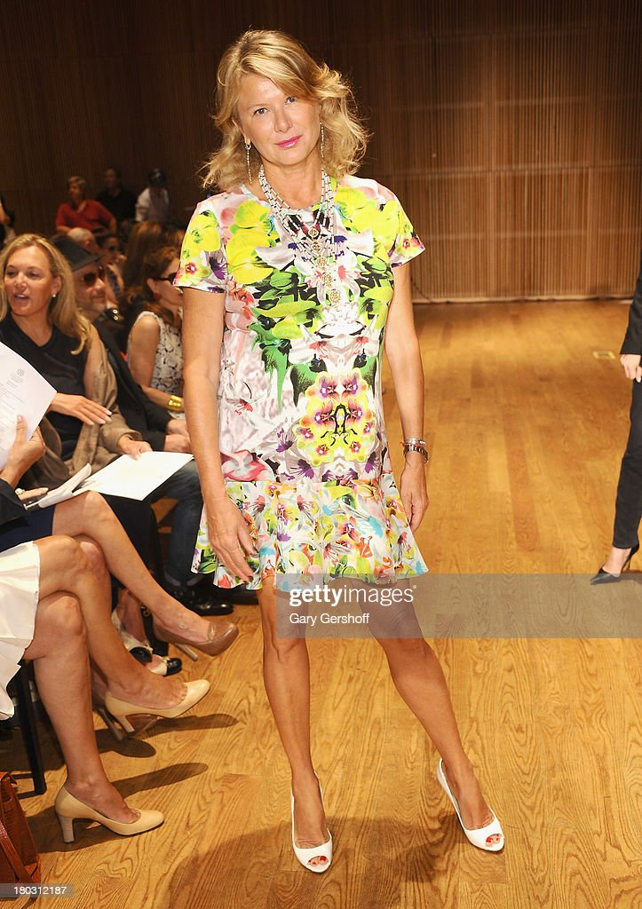 Liliana Cavendish attends the Douglas Hannant show during Spring 2014 Mercedes-Benz Fashion Week at DiMenna Center on September 11, 2013 in New York City.