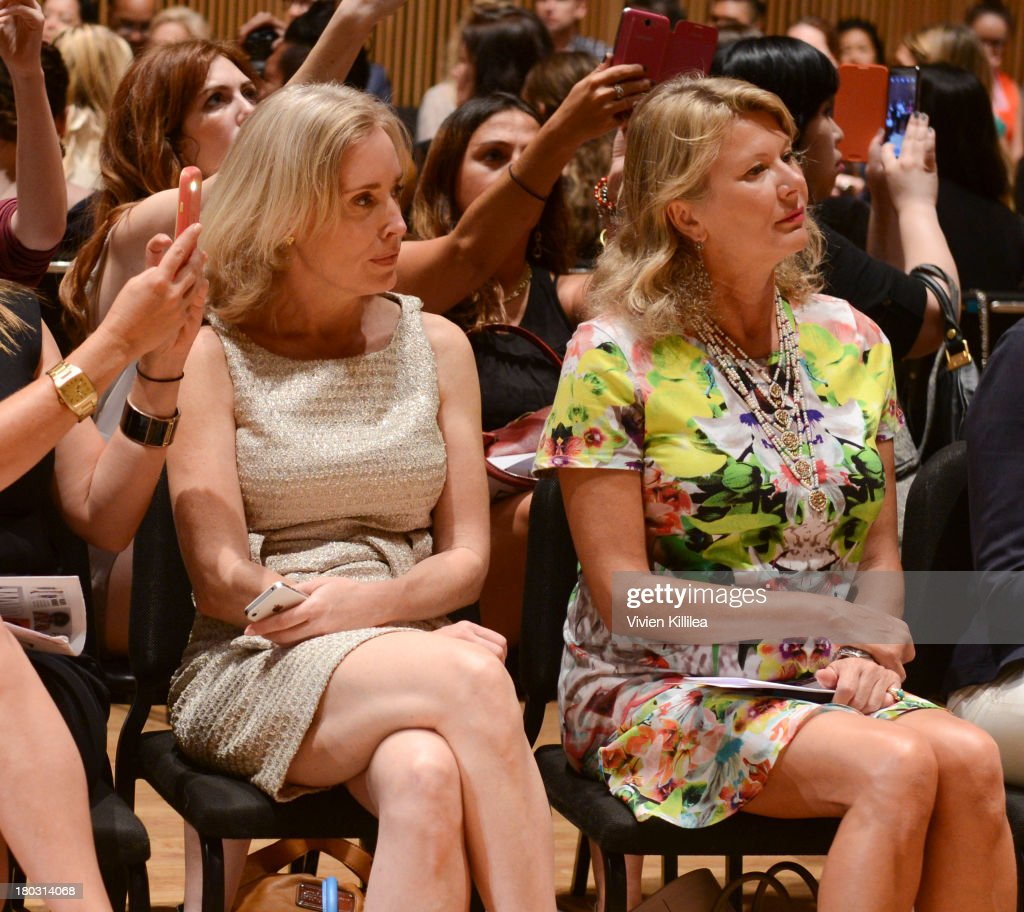 Liliana Cavendish (R) is seen on the is seen on the front row at the Douglas Hannant fashion show during Mercedes-Benz Fashion Week Spring 2014 on September 11, 2013 in New York City.