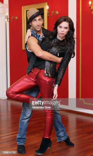 Liliana Matthaeus and dancing partner Massimo Sinato train for 'Let's Dance' TV Show at the 'Petit Palais' dancing school on March 10 in Munich...
