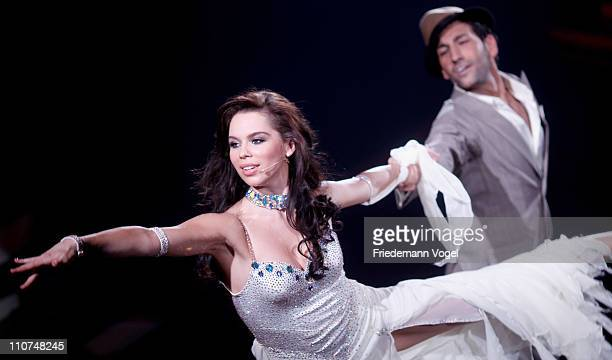 Liliana Matthaeus and Massimo Sinato perform during the 'Let's Dance' TV show at Coloneum on March 23 2011 in Cologne Germany