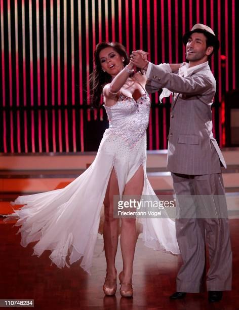Liliana Matthaeus and Massimo Sinato performs during the 'Let's Dance' TV show at Coloneum on March 23 2011 in Cologne Germany