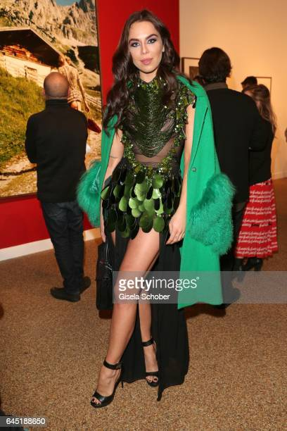 Liliana Matthaeus Kristina Liliana Tchoudinova during the opening night of Ellen von Unwerth's photo exhibition at TASCHEN Gallery on February 24...