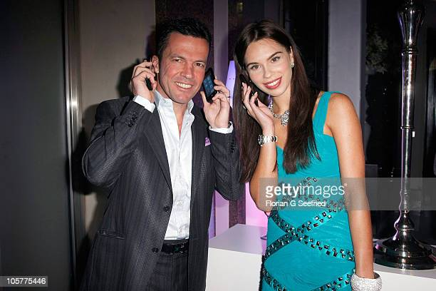 Liliana Matthaeus Lothar Matthaeus attend the 'Launch of the new Windows Phone by Deutsche Telekom' at Hotel de Rome on October 20 2010 in Berlin...