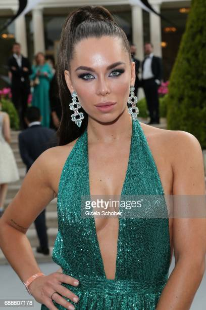 Liliana Matthaeus wearing earrings by Juwelenschmiede at the amfAR Gala Cannes 2017 at Hotel du CapEdenRoc on May 25 2017 in Cap d'Antibes France