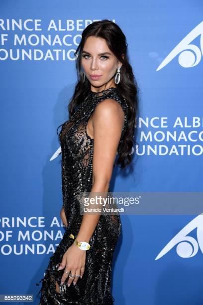 Liliana Nova attends the inaugural 'MonteCarlo Gala for the Global Ocean' honoring Leonardo DiCaprio at the Monaco Garnier Opera on September 28 2017...