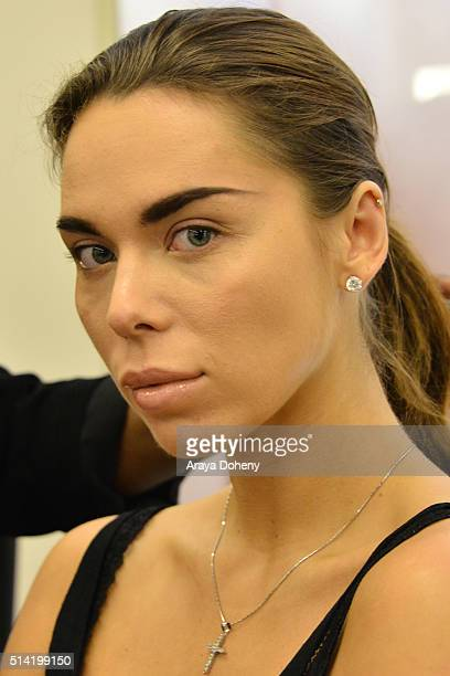 Liliana Nova attends the NARS Vogue Celebrate Spring with a master class on Beauty and Fashion Trends at NARS Cosmetics Boutique on March 5 2016 in...