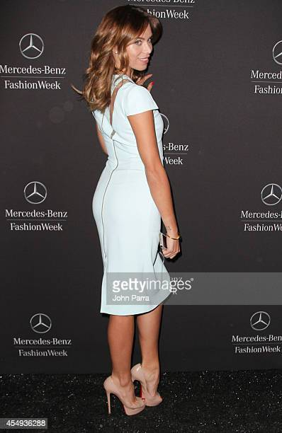 Liliana Nova is seen during MercedesBenz Fashion Week Spring 2015at Lincoln Center for the Performing Arts on September 7 2014 in New York City