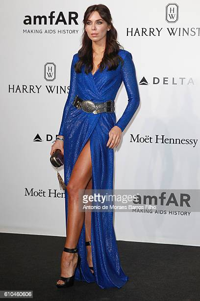 Liliana Nova walks the red carpet of amfAR Milano 2016 at La Permanente on September 24 2016 in Milan Italy