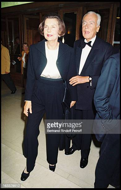 Liliane Bettencourt and Andre Bettencourt at theGala Evening Dedicated To Gianni Versace At The Theatre Des ChampsElysees In Paris
