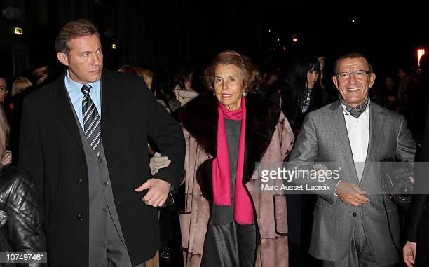Liliane Bettencourt and guests attends the Exhibition Launch for Bulgari 125th Anniversary Celebration at Grand Palais on December 9 2010 in Paris...