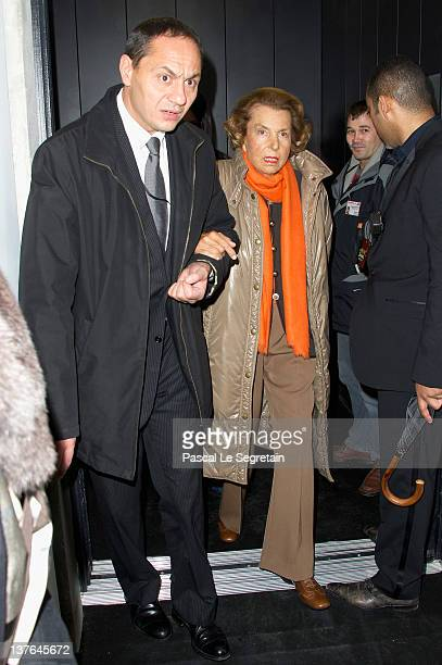 Liliane Bettencourt arrives at the Giorgio Armani Prive HauteCouture Spring / Summer 2012 show as part of Paris Fashion Week at Grand Palais on...