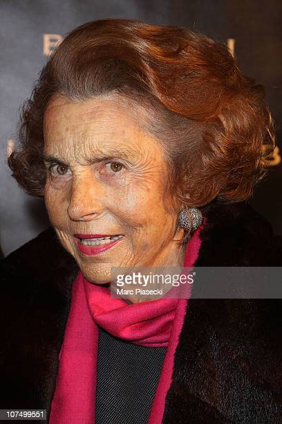 Liliane Bettencourt attends the exhibition launch for Bulgari 125th anniversary celebration at Grand Palais on December 9 2010 in Paris France