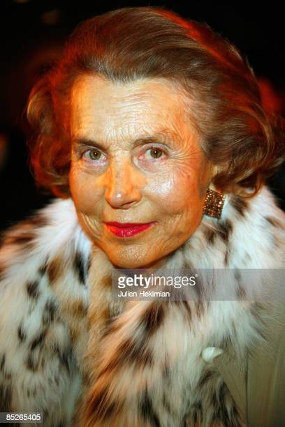 Liliane Bettencourt attends UNESCO and L'Oreal Awards for Women and Science on March 5 2009 in Paris France