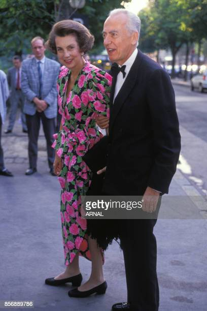 Liliane Bettencourt et son mari André Bettencourt le 19 juin 1989 à Paris France