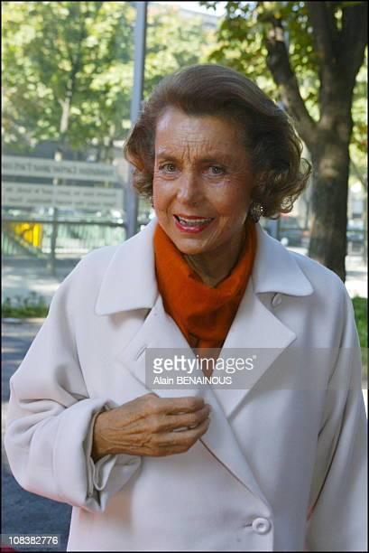 Liliane Bettencourt in Paris France on September 30 2002
