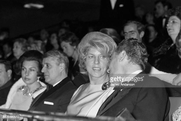 Liliane Bettencourt Andre Bettencourt and Claude Pompidou at the opening of 'Hello Dolly' in Paris 19th December 1969