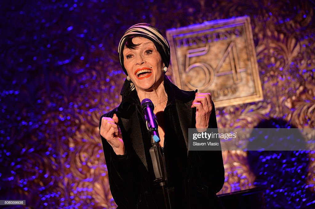 Liliane Montevecchi performs at 54 Below press preview at 54 Below on January 22, 2016 in New York City.