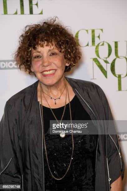 Liliane Rovere attends the 'Ce Qui Nous Lie' Paris Premiere at Cinema UGC Normandie on June 12 2017 in Paris France