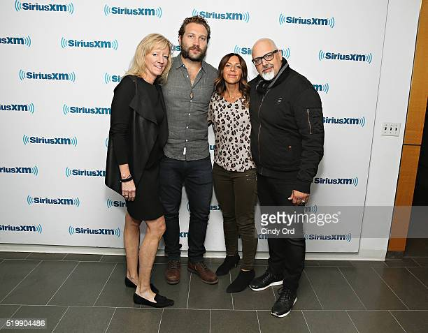 Lilibet Foster Jai Courtney Vashti Whitfield and Sam Maydew visit the SiriusXM Studio on April 8 2016 in New York City