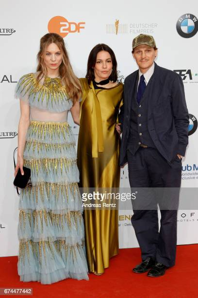 Lilith Stangenberg Georg Friedrich and Nicolette Krebitz attend the Lola German Film Award red carpet at Messe Berlin on April 28 2017 in Berlin...
