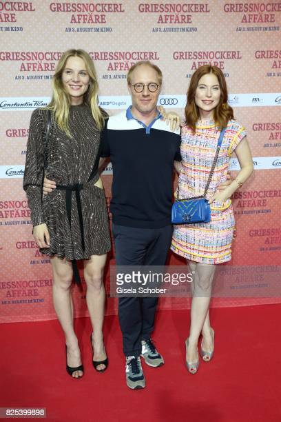 Lilith Stangenberg Simon Schwarz and Nora Waldstaetten during the 'Griessnockerlaffaere' premiere at Mathaeser Filmpalast on August 1 2017 in Munich...