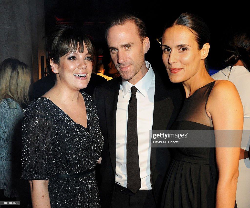 Liliy Allen, Joseph Fiennes and Maria Dieguez attend the MARTINI 150 anniversary gala at Villa Erba, Lake Como on September 19, 2013 in Como, Italy.