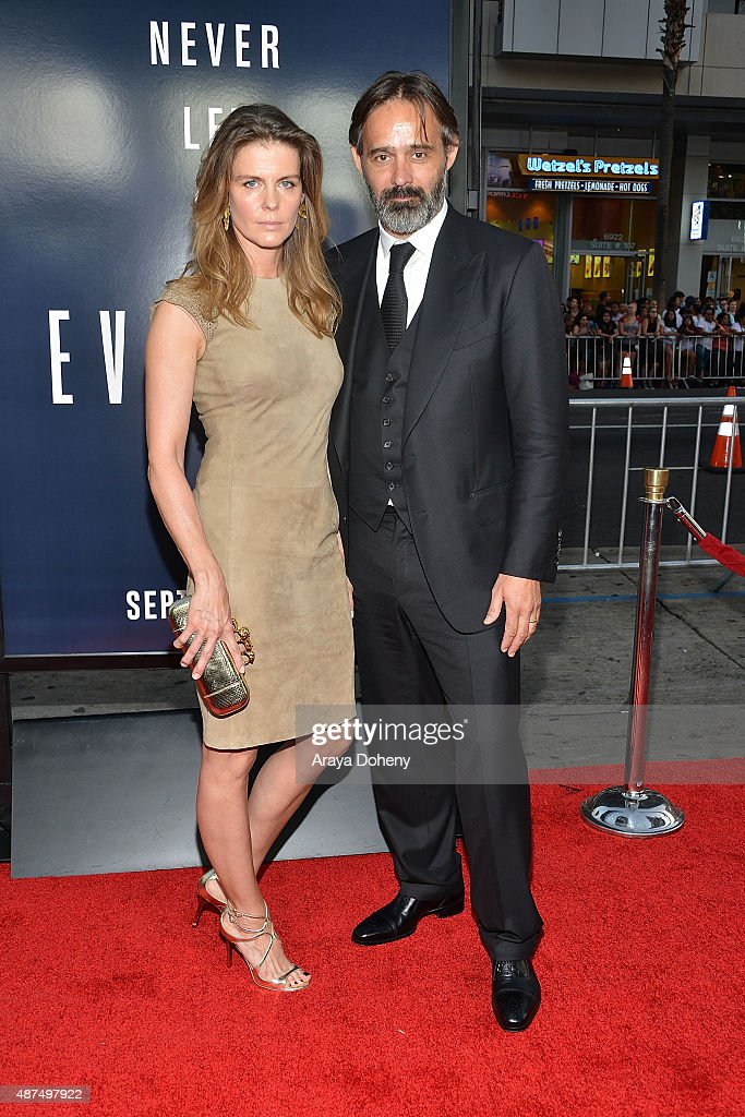 Lilja Palmadottir and Baltasar Kormakur attend the premiere of Universal Pictures' 'Everest' at TCL Chinese 6 Theatres on September 9 2015 in...