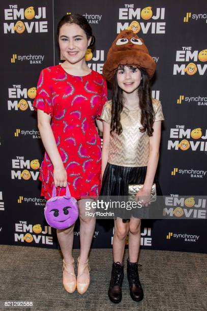 Lilla Crawford and Savvy Crawford attend 'The Emoji Movie' special screening at NYIT Auditorium on Broadway on July 23 2017 in New York City