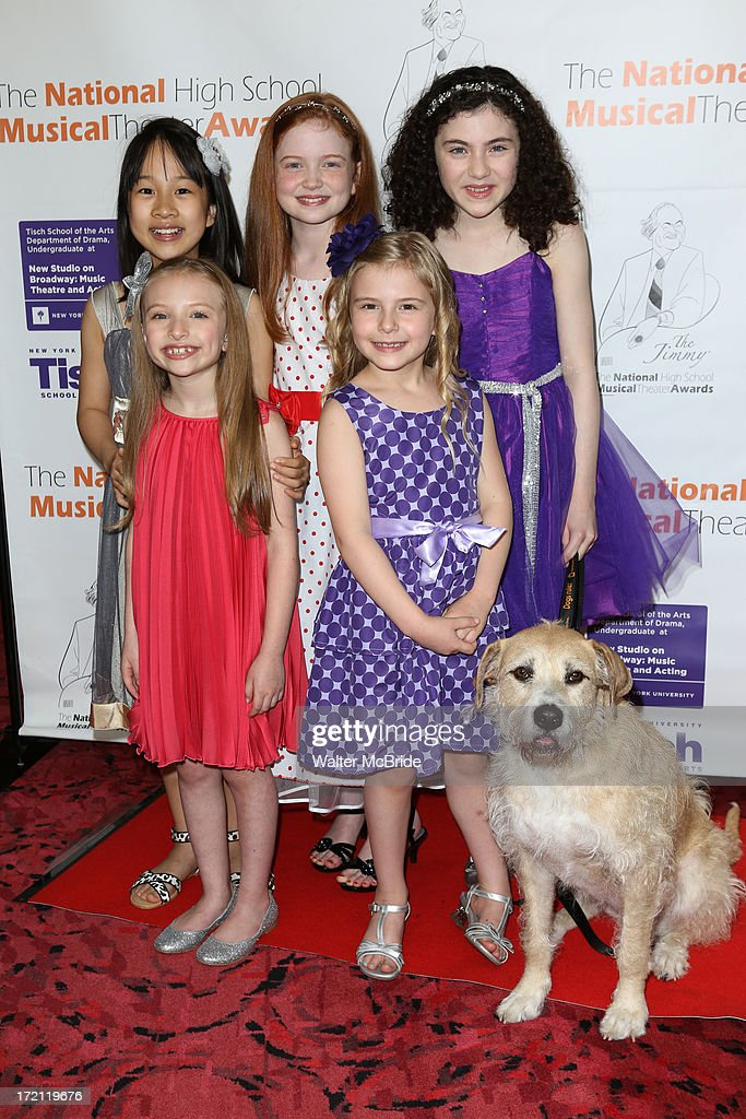 Lilla Crawford and the 'Annie' cast attends the 5th Annual National High School Musical Theater Awards at Minskoff Theatre on July 1, 2013 in New York City.