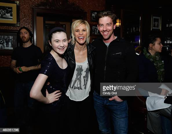 Lilla Crawford Jenn Colella and Christian Borle attend a performance of 'Don't Quit Your Night Job' at 54 Below on December 11 2014 in New York City
