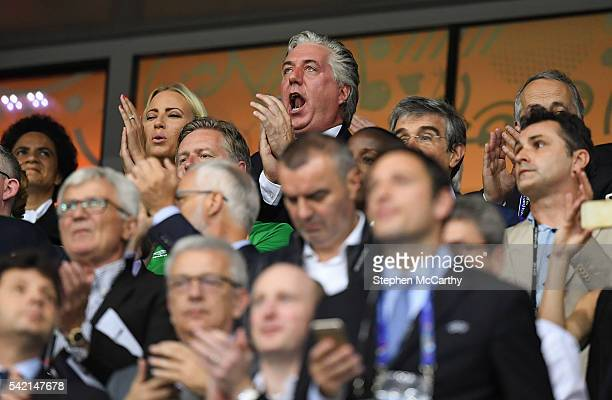 Lille France 22 June 2016 FAI Chief Executive John Delaney during the UEFA Euro 2016 Group E match between Italy and Republic of Ireland at Stade...