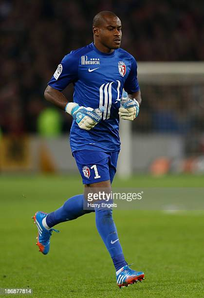 Lille goalkeeper Vincent Enyeama in action during the French Ligue 1 match between OSC Lille and AS Monaco at the Grand Stade Metropole...