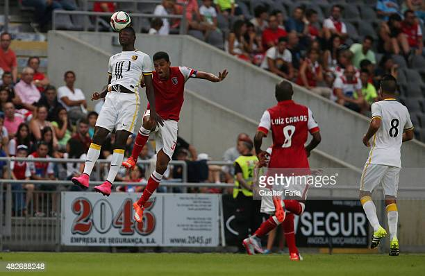Lille's forward Guirassy with SC Braga's defender Aderlan Santos in action during the preseason friendly between SC Braga and LOSC Lille at Estadio...