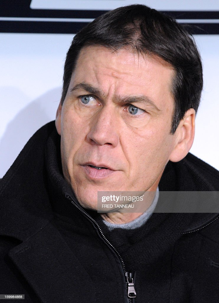 Lille's French head coach Rudi Garcia attends the French Cup football match Plabennec vs Lille on January 24, 2013 in Brest, western of France.