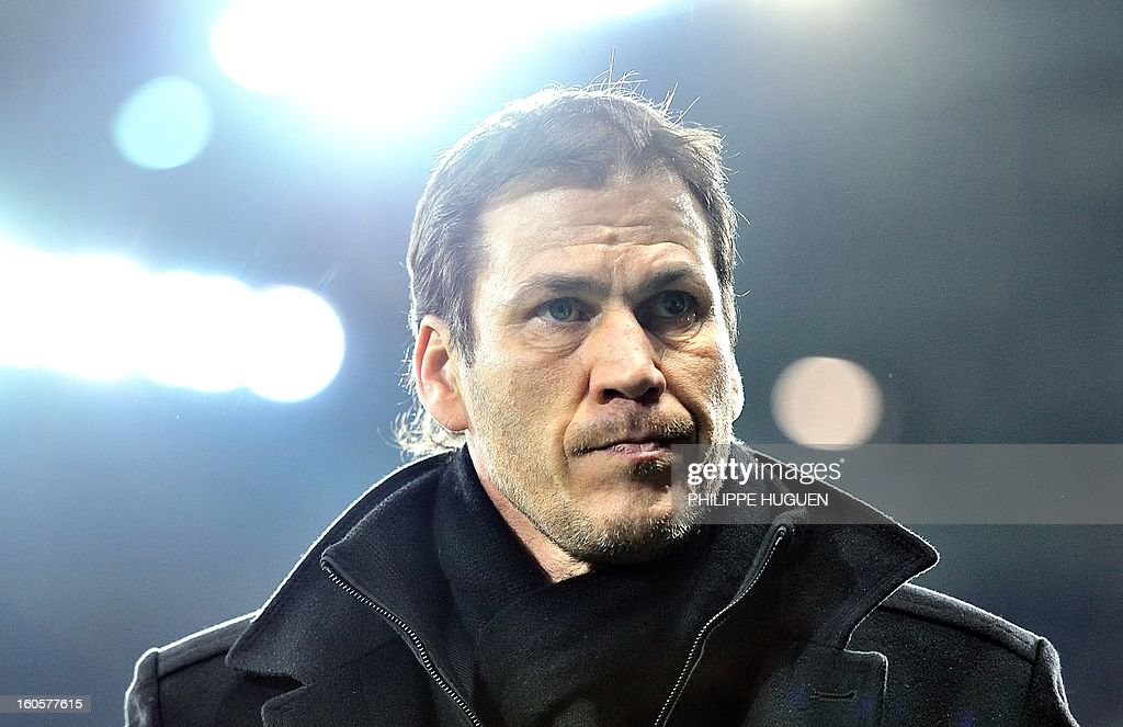 Lille's French head coach Rudi Garcia looks on during the French L1 football match Lille (LOSC) vs Troyes (ESTAC) on February 2, 2013 at the Grand Stade Stadium in Villeneuve d'Ascq.