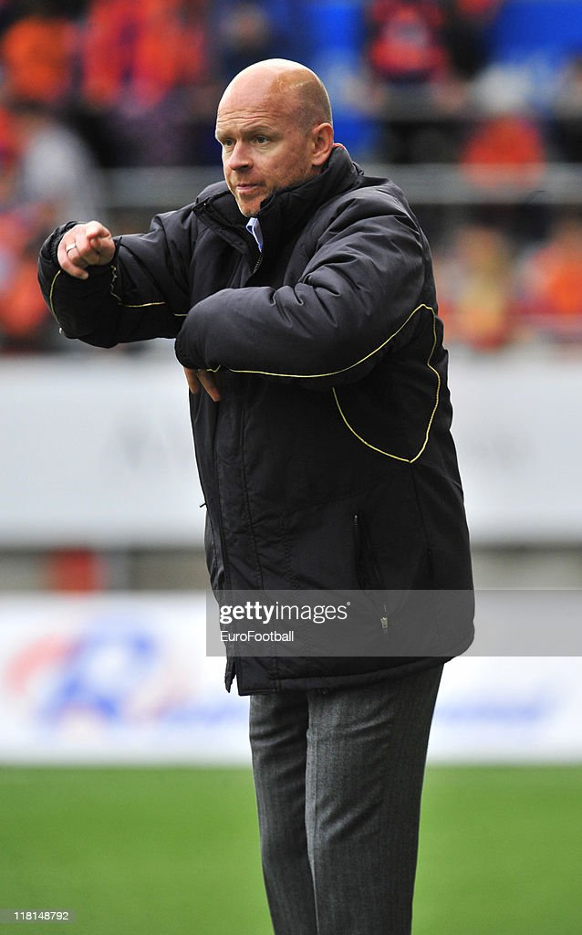 Lillestrom Norway  City new picture : Lillestrom SK coach Henning Berg during the Norwegian Tippeligaen ...