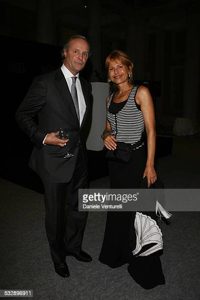 Lilli Gruber and Robert Polet during The 63rd International Venice Film Festival Gucci Group Award at Palazzo Grassi in Venezia Italy