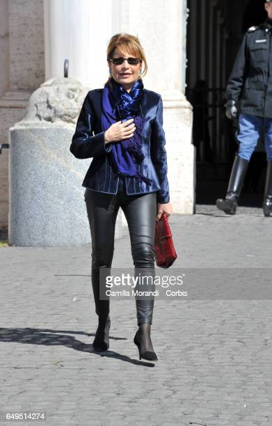 Lilli Gruber attends International Women's Day Celebrations at Palazzo del Quirinale on March 8 2017 in Rome Italy