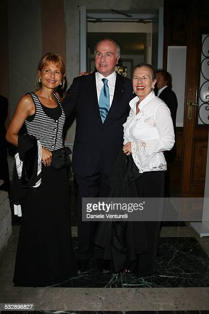 Lilli Gruber Piergiorgio Coin and wife Franca during The 63rd International Venice Film Festival Gucci Group Award at Palazzo Grassi in Venezia Italy